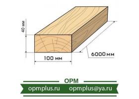 Доска обрезная 40х100х6000 (лиственница)