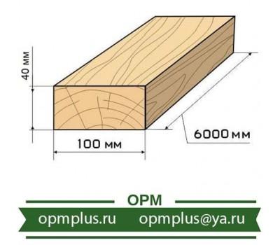 Доска обрезная 40х100х6000 мм ГОСТ