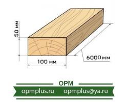 Доска обрезная 50х100х6000 мм ГОСТ